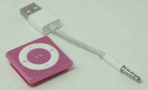 Gently Used, Esthetically Perfect, in Box, 2 GB 4th Gen. Pink Apple iPod Shuffle