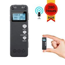 Mini Digital Activated Voice Recorder Spy Portable Bug Audio MP3 8GB Lecture
