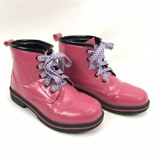 Hello Kitty Boots Childrens Bright Pink Lace Up About Size 4 AUS