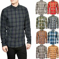 Mens Ex Next Long Sleeve Casual Check Print Smart 100% Cotton Branded Work Shirt