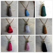 Colgante de Moda Borla Largo Collar Cadena de oro rosa Joyas Regalo 11 Colores