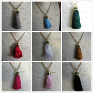 Fashion Tassel Pendant Long Rose Gold Chain Necklace Jewellery Gift 11 Colours