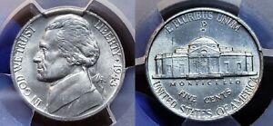 1943/2 P Silver Jefferson War Nickel 5c PCGS MS 64