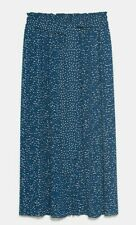 ZARA WOMAN NWT SALE! ACCORDION PLEAT SKIRT BLUE POLKA DOTS SIZE M REF: 8372/236