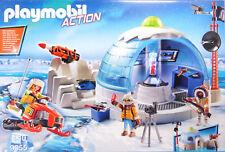 Playmobil 9055 Polar Ranger Hauptquartier 3 Forscher Schneemobil Iglu Kanone NEU