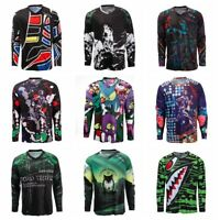 Men's Cycling Jersey MTB Downhill T-Shirt Long Sleeve Motorcycle Breathable Tops
