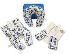 3 Piezas Bebé Viaje Cojín De Dinosaurio-Conjunto de regalo, Almohadillas de cinturón de seguridad de cuello