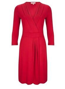 HOBBS Denise Dress Pillar Box Red £89.00 Size 12 Hardly Worn Excellent Condition