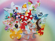 Fabric Butterflies (10) Butterfly Die Cut Shape, Craft Embellishments