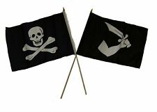 "12x18 12""x18"" Wholesale Combo Pirate No Patch & Thomas Tew Stick Flag"