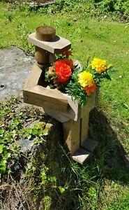 trendy chunky's flowerpot men handmade garden figure planter