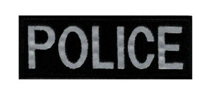 """Reflective Police Tactical Patch (""""Velcro Brand"""" Fastener -4.0 X 1.5 inch - RP3)"""