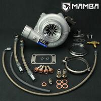 "MAMBA GTX Ball Bearing Turbocharger 3"" .60 Twisted AS GTX3071R w/ .82 T3 V-Band"