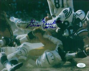 Gino Marchetti Baltimore Colts Signed 8x10 Glossy Photo JSA Authenticated