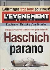 L'evenement Du Jeudi   N°587   1 au 7 fevrier 1996 : Haschich parano