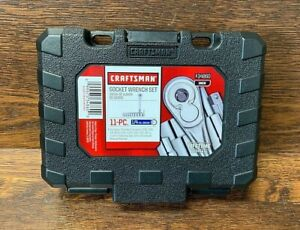 """NEW CRAFTSMAN 11pc. Standard 1/4"""" DRIVE SAE SOCKET WRENCH SET in Hard Case"""