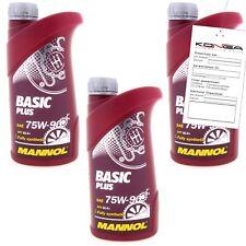 3 Liter MANNOL Basic Plus 75W-90 API GL 4+ Getriebeöl 75W90 Öl