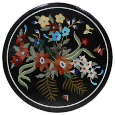 """21""""x 21"""" New Design Beautiful Marble Inlay Table Top Home Decor"""