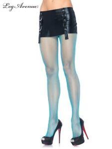Leg Avenue 9013 Blue Women's Pantyhose Spandex Fishnet One Size Regular NEW