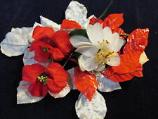 "Vintage Millinery Flower Collection Red White 2-3"" German H2873"