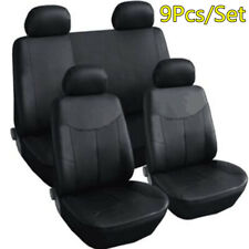 9Pcs/Set PU Leather Waterproof Full Seat Cover Set For Car Interior Accessories