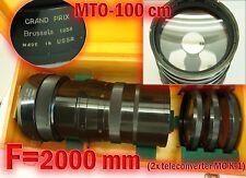 Reflex mirror MTO-100  10.5/1000  M39-M42, Wooden case! TEST Grand Prix Brussels