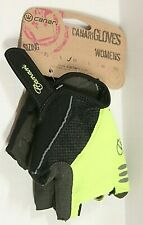 Canari Womens Killer Yellow Aurora Cycling Bicycle Gloves Gel Sz Med