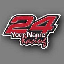 Race Car Number Vinyl Decal Sticker Set Kit Custom Made