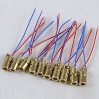 10Pcs Mini 650nm 5mW 5V Φ6.5 Laser Dot Diode Module Head