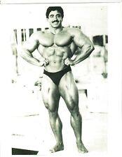 Bodybuilder Samir Bannout Mr Olympia 1983 Bodybuilding Muscle Photo B&W