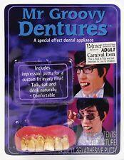 Mr Groovy Teeth Dentures Mojo Austin Powers Fancy Dress Accessory