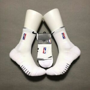 Nike NBA Elite Quick Socks  - White - Mid Length - XL/Size 12-15