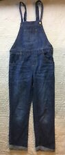 Place Blue Jean Overalls Girls Yourh Size 12 Dark Wash Cotton Cuffed Casual