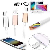 2.5A Micro USB Charging Cable Magnetic Adapter Charger For Samsung LG Android GB