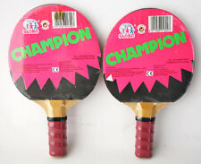 RARE VINTAGE 80'S PING PONG PADDLES TABLE TENNIS BY GLOBO NEW SEALED !