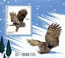 Mali 2016 MNH Owls 1v S/S Great Grey Owl Birds of Prey Stamps