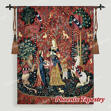 "The Lady & Unicorn Medieval Fine Art Tapestry Wall Hanging - SMELL, 55""x41"", US"