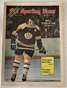 The Sporting News April 21, 1973, Phil Esposito Boston Bruins Hockey, (B179)