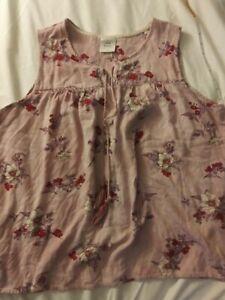 Knox Rose Pink Floral Velvety Crochet Embroider Tassel Tie Tank Top Blouse XXL