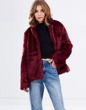 Womens Faux Fur Coat Ladies Jacket Outwear