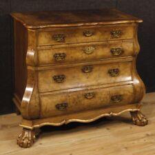 Antico cassettone credenza cassettiera comò mobile legno stile olandese cassetti