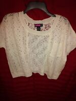 Say what? Cream Crop Top. Size small