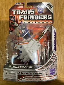 Transformers G1 Hasbro Universe Starscream MISB Generations Robots In Disguise