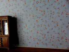 Tapete Furs Puppenhaus Blumenranken Blau Puppenstube