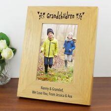 Nipoti personalizzato foto cornice 6x4 in legno di rovere finitura Regalo