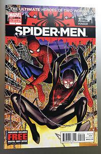 Spider-Men Comic #1 2012 1st Meeting Peter Parker Miles Morales 2nd Print NM-