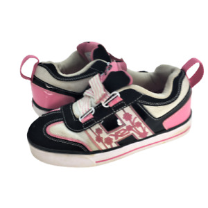 Heely X2 Girls Size 3Y Pink / White Roller Shoes