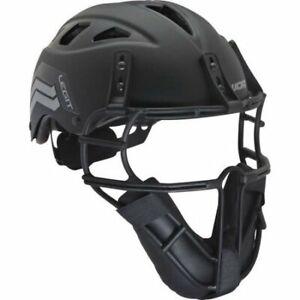 Worth Legit Slowpitch Softball Pitchers Helmet Mask, Black LGTPH-B