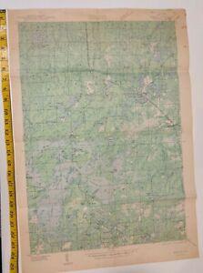 Vintage Mercer Wisconsin Map, 1940, Iron County, Mercer Quadrangle