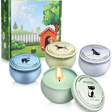 4PCS 100% Soy Wax Candle Pets Odor Eliminator Reusable Jar Scented Candles Props
